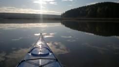 Vartsalansaaren pohjoiskärki kanoottiperspektiivistä